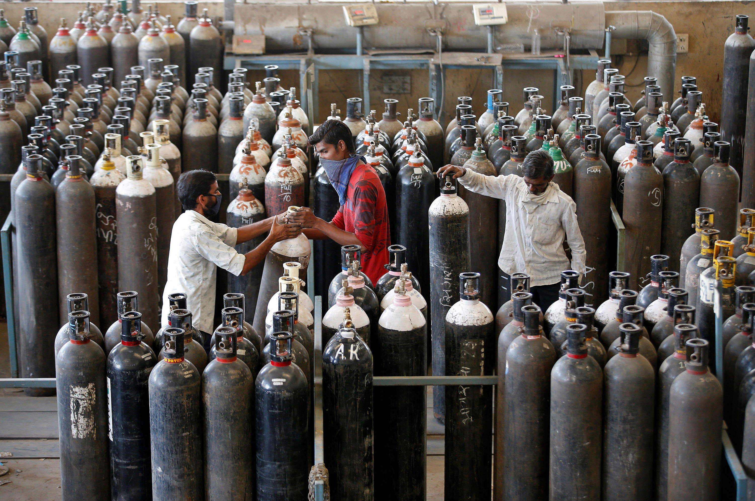 refilling oxygen cylinders